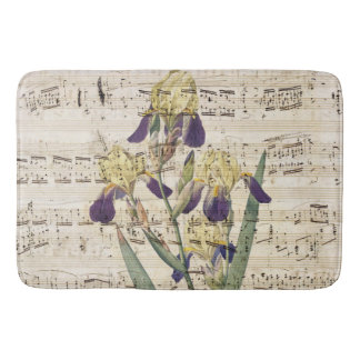 yellow iris music bathroom mat