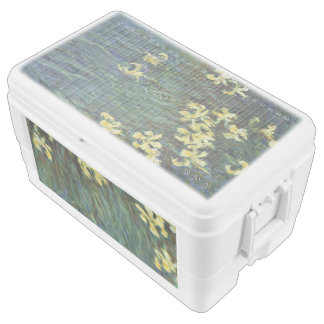 Yellow Irises by Claude Monet Chest Cooler