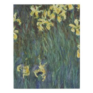 Yellow Irises by Claude Monet Faux Canvas Print