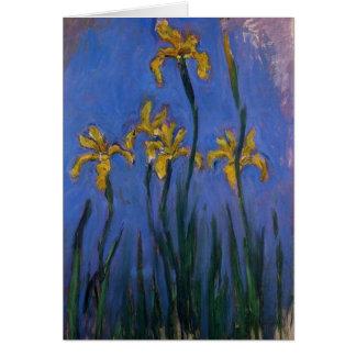 Yellow Irises Card