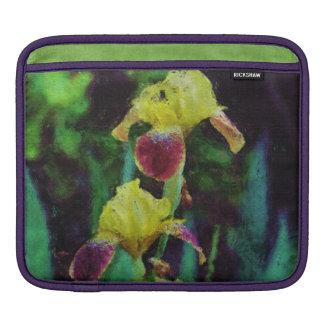 Yellow Irises Floral Impressionist iPad Sleeve