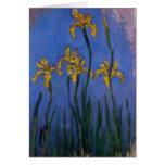Yellow Irises Greeting Cards