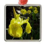 Yellow Irises Metal Ornament