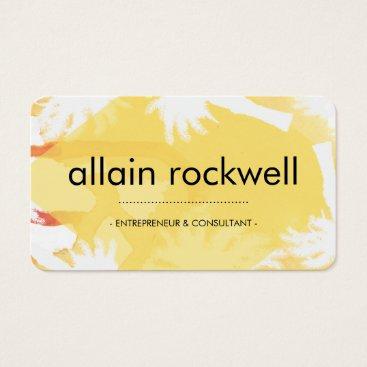 Beach Themed Yellow Island Business Card