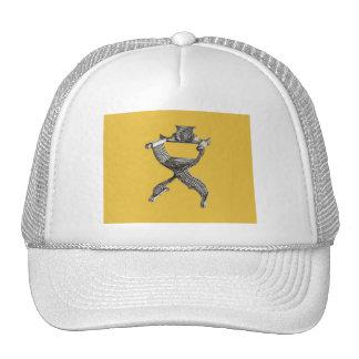 Yellow italian chair trucker hat