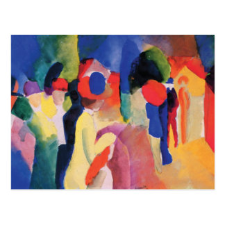 Yellow Jacket Abstract by August Macke Postcard