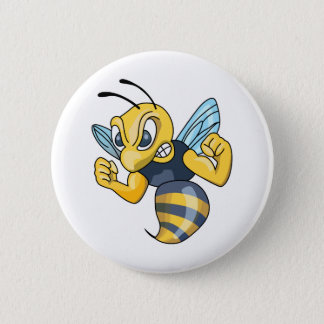 YELLOW JACKET HORNET PINBACK BUTTON