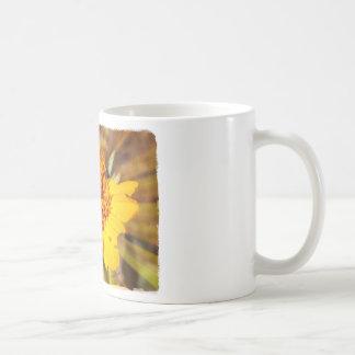 Yellow Jacket on Yellow Flower Coffee Mug