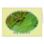 Yellow Jacket Ring Bearer Request Card