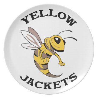 YELLOW JACKETS PARTY PLATES