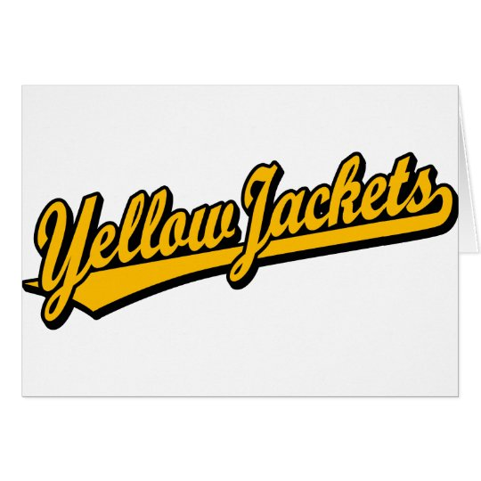 Yellow Jackets script logo in orange Card