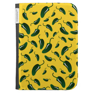 Yellow jalapeno peppers pattern kindle keyboard covers