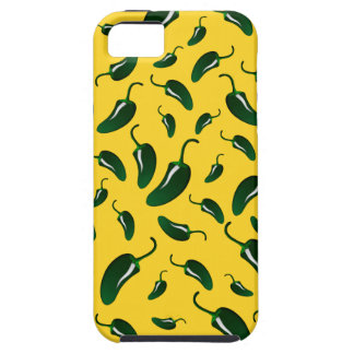Yellow jalapeno peppers pattern iPhone 5 covers
