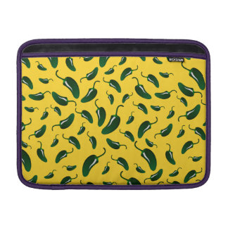 Yellow jalapeno peppers pattern sleeve for MacBook air