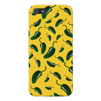 Yellow jalapeno peppers pattern case for iPhone 5