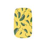 Yellow jalapeno peppers pattern minx ® nail art