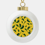 Yellow jalapeno peppers pattern ornament