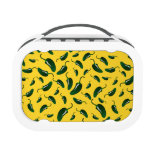 Yellow jalapeno peppers pattern yubo lunchboxes