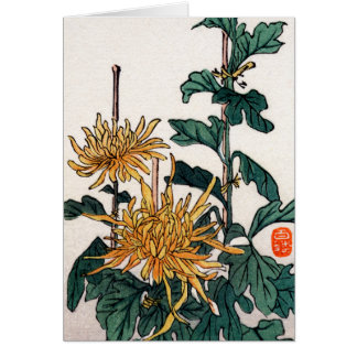 Yellow Japanese Flowers no.1 Card
