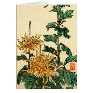 Yellow Japanese Flowers no.2 Card