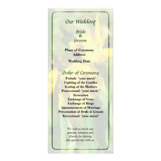 Yellow Japanese Irises Wedding Program