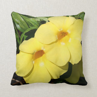 Yellow Jasmine Flower of the Caribbean photo Throw Pillows
