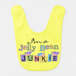 Yellow Jelly Bean Junkie Bib