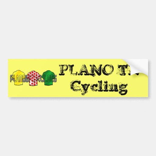 Yellow Jersey Green Jersey King of the mountains Bumper Stickers