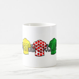 Yellow Jersey Green Jersey King of the mountains Coffee Mug