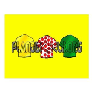Yellow Jersey Green Jersey King of the mountains Postcard