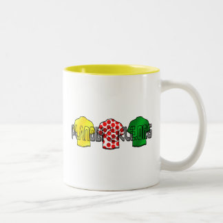 Yellow Jersey Green Jersey King of the mountains Two-Tone Coffee Mug