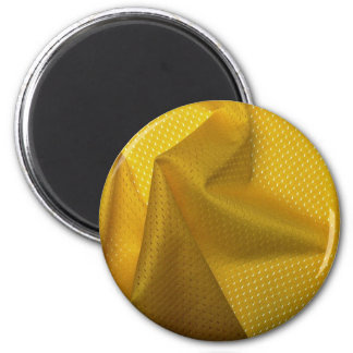 Yellow jersey material fridge magnets
