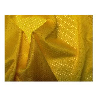 Yellow jersey material postcard