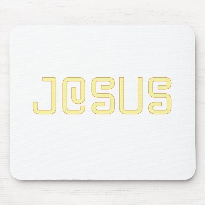 Yellow Jesus Mouse Pad