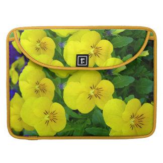 "Yellow Johnny Jump Up Flowers 15"" MacBook Sleeve Sleeve For MacBook Pro"