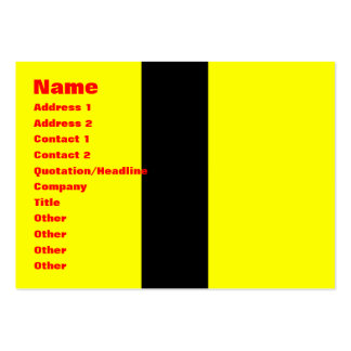Yellow Jumpsuit Large Business Card