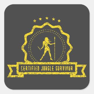 Yellow Jungle Seal Sticker