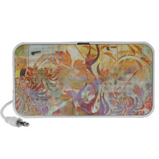 Yellow Jungled flames iPhone Speakers