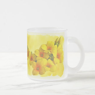 Yellow Kalanchoe - Succulent Sunshine Frosted Glass Coffee Mug
