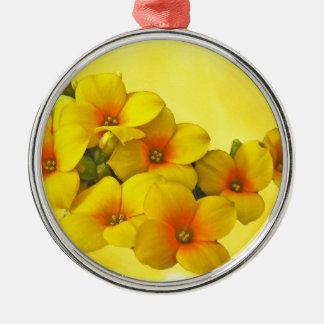 Yellow Kalanchoe - Succulent Sunshine Metal Ornament