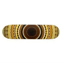 Yellow kaleidoscope skateboard deck