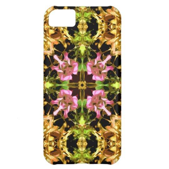 Yellow Kaleidoscope Wheel iPhone Case