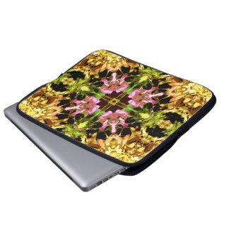 Yellow Kaleidoscope Wheel Laptop Sleeve