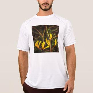 yellow kangaroo paw flower shirt