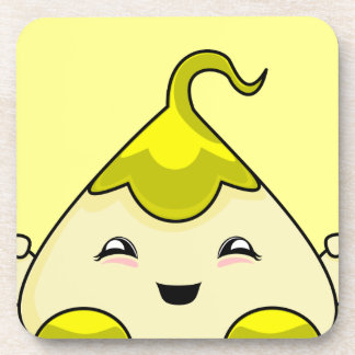 Yellow Kawaii Tickle Monster Drink Coasters