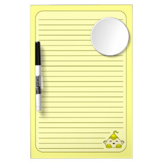 Yellow Kawaii Tickle Monster Dry-Erase Boards
