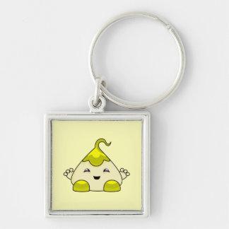 Yellow Kawaii Tickle Monster Key Chain