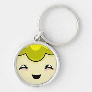 Yellow Kawaii Tickle Monster Keychain