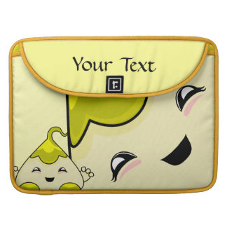 Yellow Kawaii Tickle Monster Sleeves For MacBooks