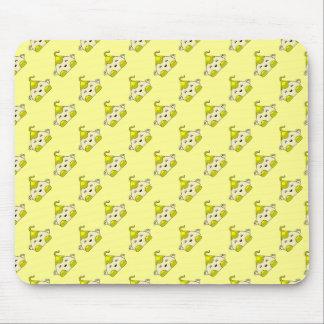 Yellow Kawaii Tickle Monster Mouse Pad